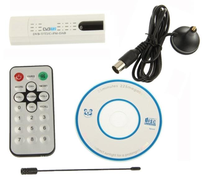 Внешний цифровой тюнер HDTV Digital TV Stick - DVB-T2 USB 2.0